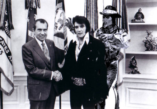 Elvis and Nixon with Bubba Ho-Tep