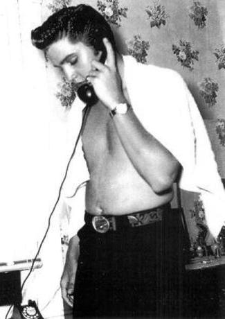 Elvis on the Phone 3