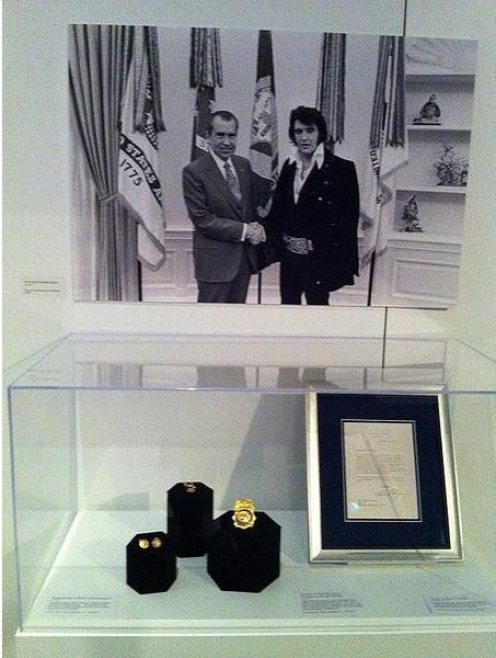 Below Photo is the Special DEA Badge Elvis got from Nixon