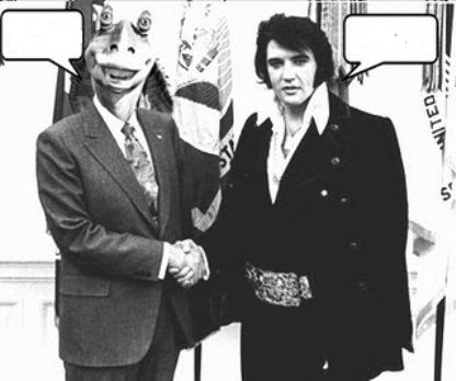 Jar Jar Binks and Elvis