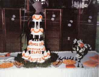 Class of '53 Reunion Cake Decorated in Memory of Elvis