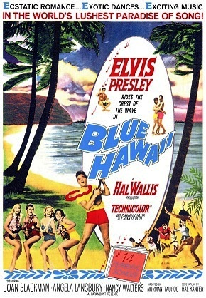 Blue Hawaii Poster in Girls! Girls! Girls!