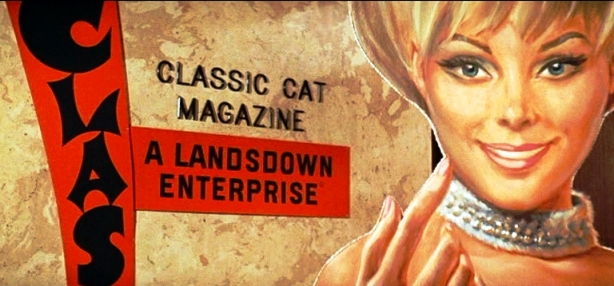Live A Little, Love A Little -- Classic Cat Magazine on Wall