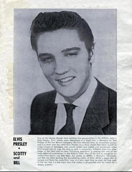 Elvis Page in Program