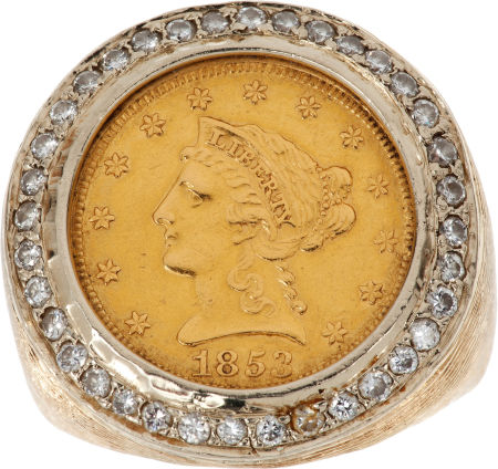 Stage Worn Gold Coin and Diamond Ring Lot 46075 $35,000 est