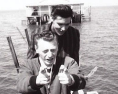 Red West and Elvis in 1958