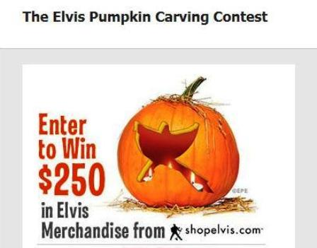 Carve Elvis Contest