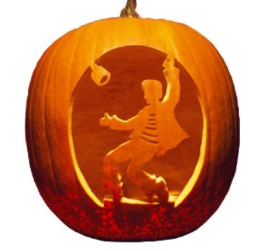 Outstanding elvis carved pumpkin