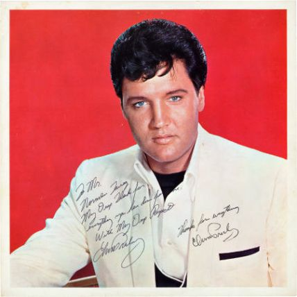 Elvis Presley Signed And Inscribed Spinout Promotional Photo 1966