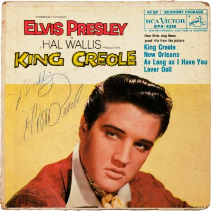 elvis signed the front of this ep album to buddy elvis presley
