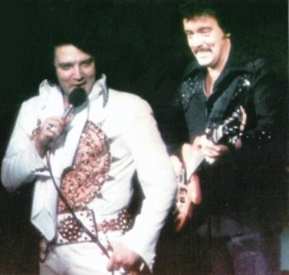 Elvis and John Wilkinson 1977