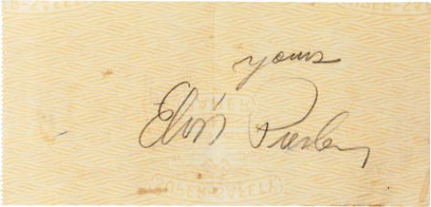 Signed Check 1957 Back