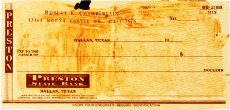 Signed Check 1957 front