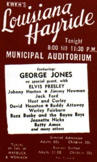 George Jones  Headlines 1955 show