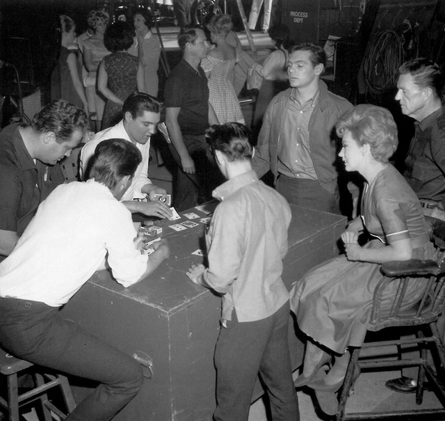 Poker game.  Gary Lockwood, Joan O'Brien, and cousin Billy Smith join in.