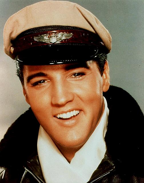 Elvis in his pilot outfit