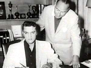 Elvis and Hal Wallis