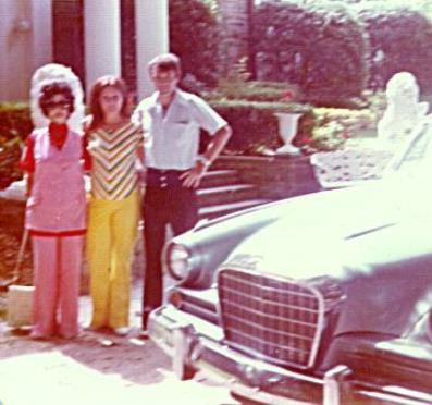 Patsy Presley (center) at Graceland --1960