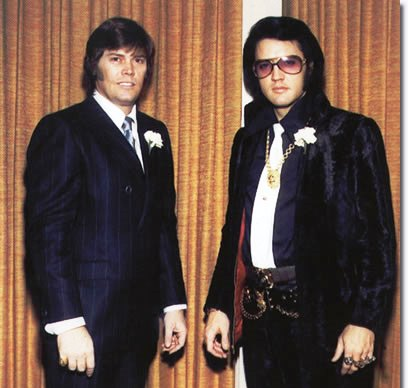 Sonny West and Elvis -- 1970