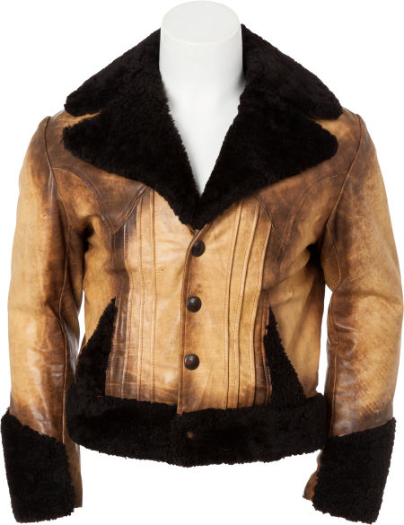 Leather Fur-Trimmed Jacket from Charlie Hodge