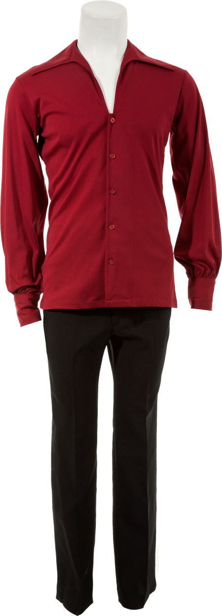 Maroon Shirt and Black Pants -- from Richard Davis