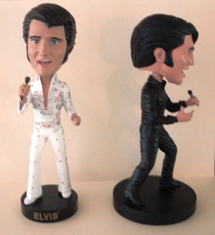 My Elvis Bobblehead Display