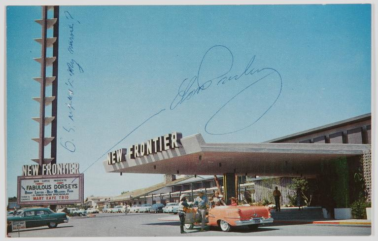 Signed New Frontier Postcard