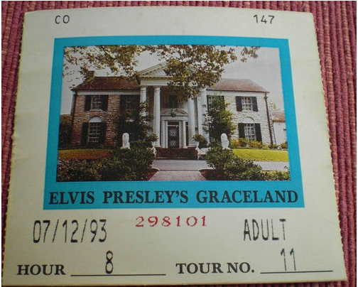 1993 Graceland Ticket