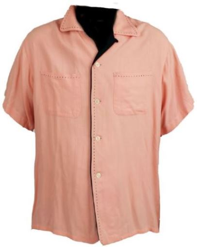 Custom Made Pink Gabardine Shirt