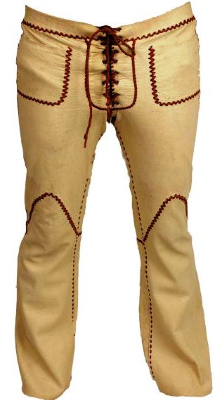 North Beach Leather Pants With Whip Stitching