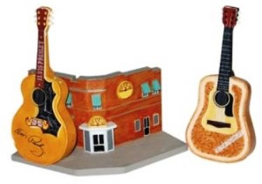 Elvis Presley Sun Records Guitar Salt & Pepper Shaker Set