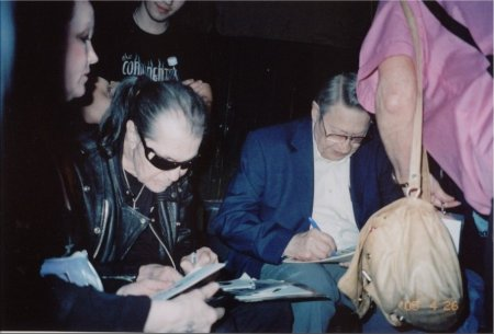 Link Wray and Scotty Moore - Signing at Ponderosa Stomp