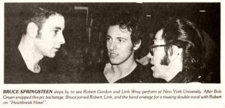 Robert Gordon, Bruce Springsteen and Link Wray