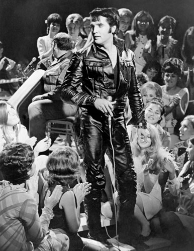 Elvis 68 Special Black Leather Suit - Image for Standee