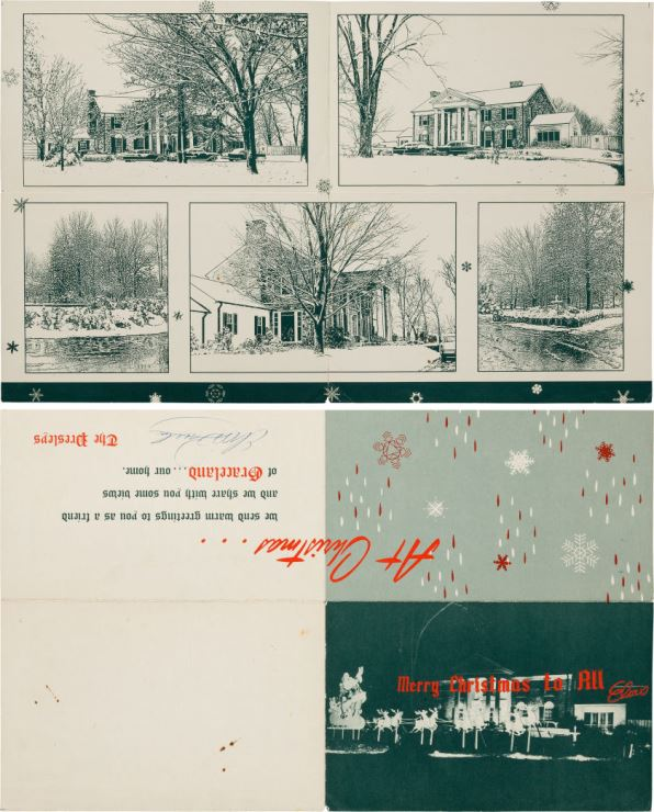 Christmas Card with Elvis' Autograph