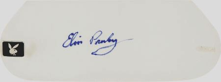 Elvis' Autograph on Playboy Bunnie Cuff