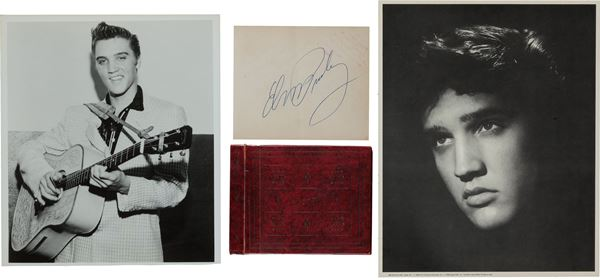Elvis' Autograph on White Paper from Fan Book