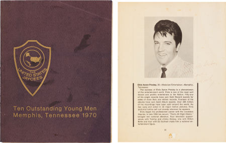 Elvis Autographed America's Ten Outstanding Young Men Program