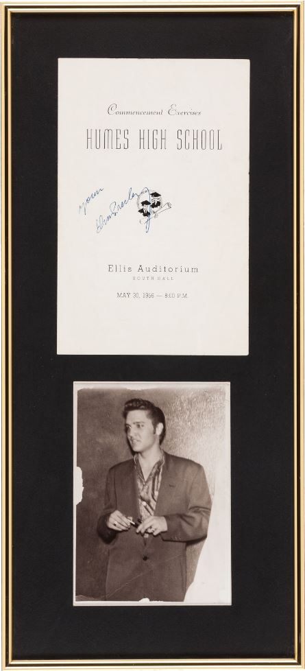 Elvis Autographed Humes High School Commencement Program, 1956