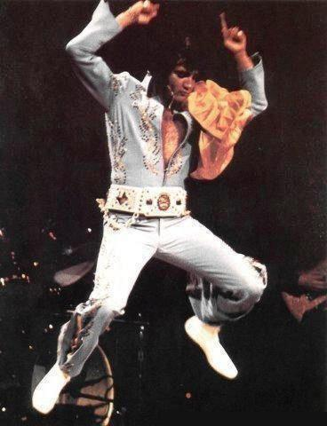 Elvis Jumping On Stage