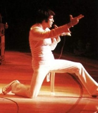 Elvis - One Knee Down, Other Leg Outsretched