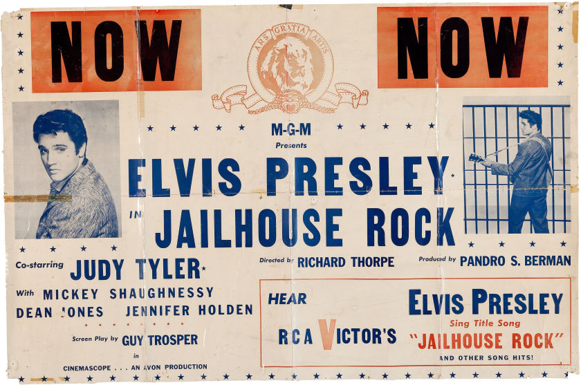 Promotional Poster for Elvis in Jailhouse Rock