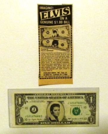 Elvis Dollar Bill