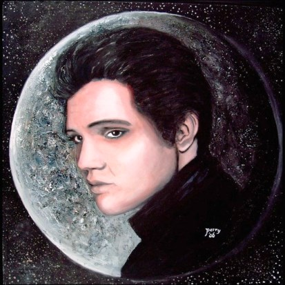 Painted Elvis - Man on the Moon