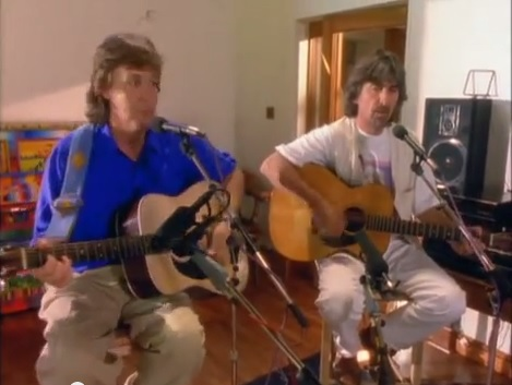 Paul and George Playing Blue Moon of Kentucky
