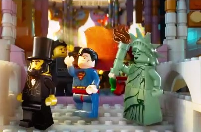 Abe, Superman and Lady Liberty Lego Minifigs