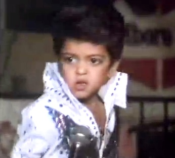 Bruno Mars - age 4 doing Elvis
