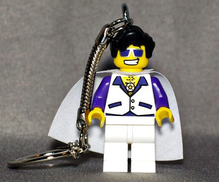Elvis LEGO Key Chain
