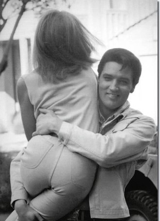 Elvis Picking up Girl