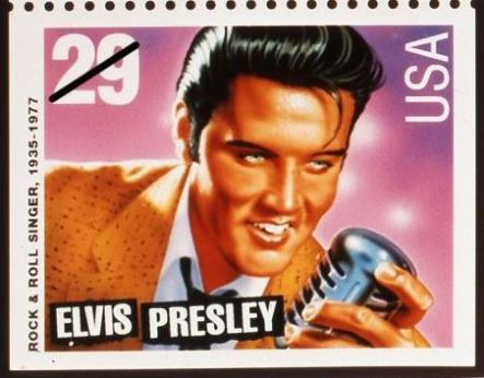 The elvis stamp once before after selling 129 million of the stamp